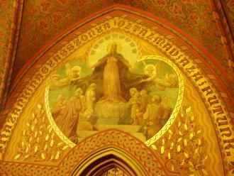 10 Budapešť interiér Kostola Korvína.JPG