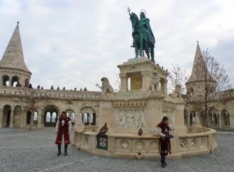 8 Budapešť socha Štefana I. na Rybárskej bašte..JPG