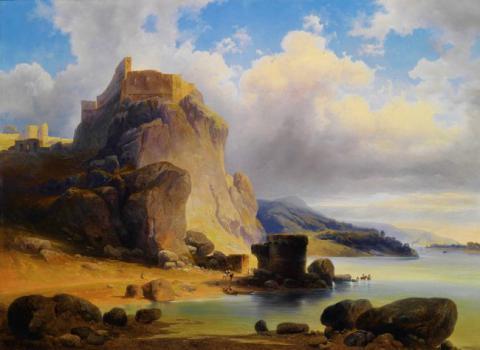 16_devin_hradne_ruiny_na_olejomalbe_josefa_holzera_z_roku_1864.jpg